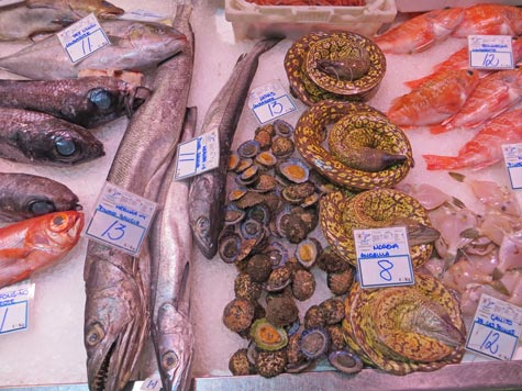 Seafood from Tenerife